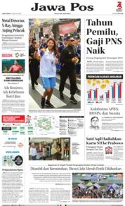 Cover Jawa Pos 17 Agustus 2018