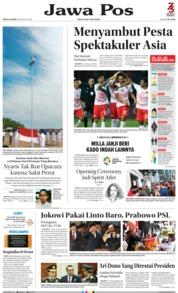 Cover Jawa Pos 18 Agustus 2018