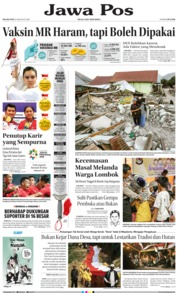 Jawa Pos Cover 21 August 2018