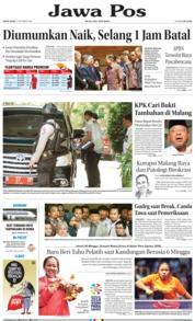 Cover Jawa Pos 11 Oktober 2018