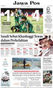 Cover Jawa Pos 21 Oktober 2018