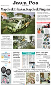 Cover Jawa Pos 13 Desember 2018