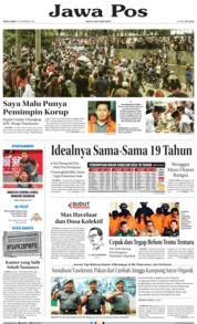 Cover Jawa Pos 15 Desember 2018