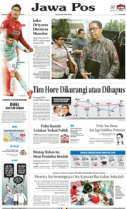 Jawa Pos Cover 19 February 2019