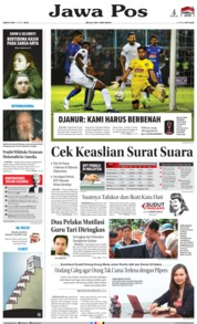 Cover Jawa Pos 13 April 2019