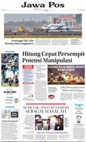 Jawa Pos Cover 21 April 2019