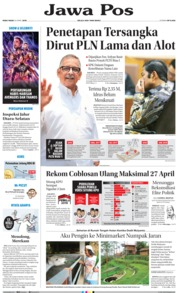 Jawa Pos Cover 24 April 2019