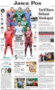 Cover Jawa Pos 15 Mei 2019