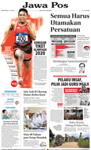 Jawa Pos Cover 20 May 2019