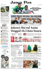 Jawa Pos Cover 21 May 2019