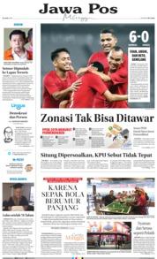 Cover Jawa Pos 16 Juni 2019