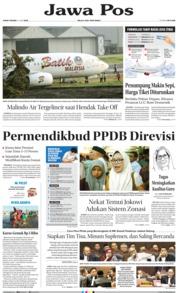 Cover Jawa Pos 21 Juni 2019
