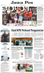 Jawa Pos Cover 22 July 2019