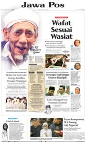 Cover Jawa Pos 07 Agustus 2019