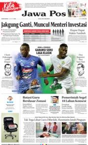 Cover Jawa Pos 15 Agustus 2019