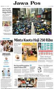 Cover Jawa Pos 19 Agustus 2019