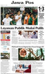 Cover Jawa Pos 21 Agustus 2019