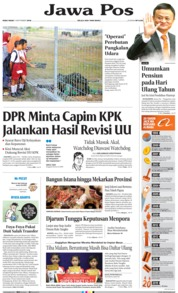 Jawa Pos Cover 11 September 2019