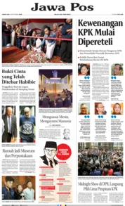 Jawa Pos Cover 13 September 2019