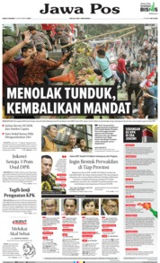 Jawa Pos Cover 14 September 2019