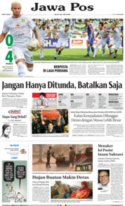 Jawa Pos Cover 21 September 2019