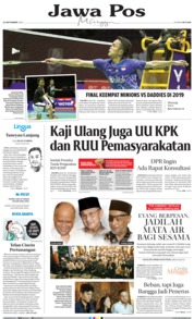 Jawa Pos Cover 22 September 2019