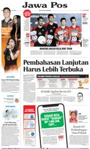 Jawa Pos Cover 23 September 2019