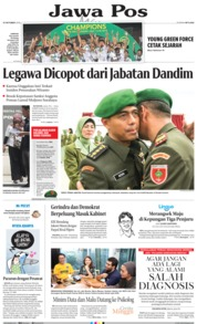 Jawa Pos Cover 13 October 2019