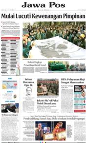 Cover Jawa Pos 18 Oktober 2019