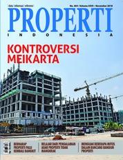 Cover Majalah PROPERTI Indonesia November 2018