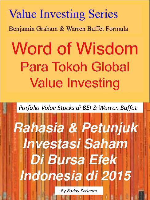 Buku Digital Words Of Wisdom - Para Tokoh Global Investasi - Nilai Wajar Dengan Analisa Fundamental oleh Buddy Setianto