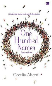 Cover One Hundred Names - Seratus Nama oleh Cecelia Ahern