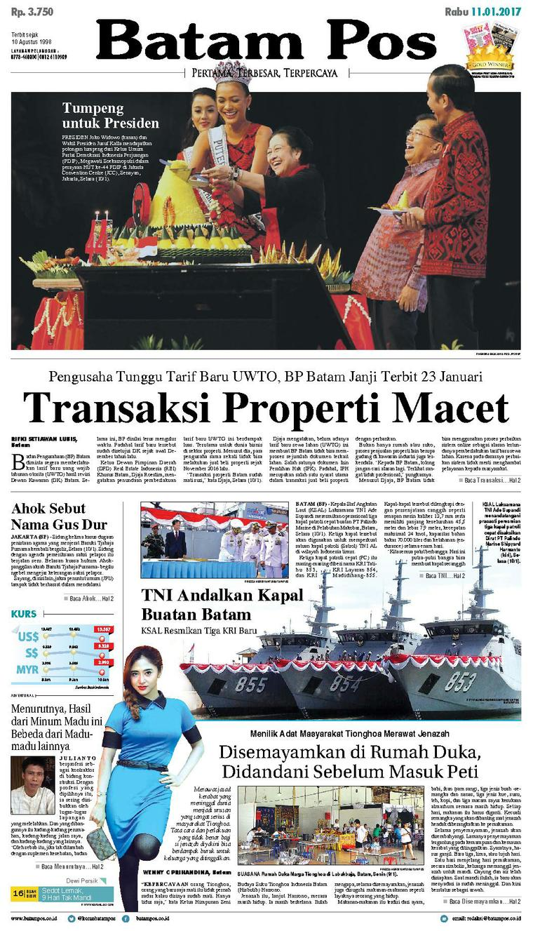 Koran Digital Batam Pos 11 Januari 2017