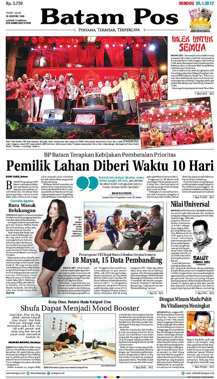 Koran Digital Batam Pos 29 Januari 2017