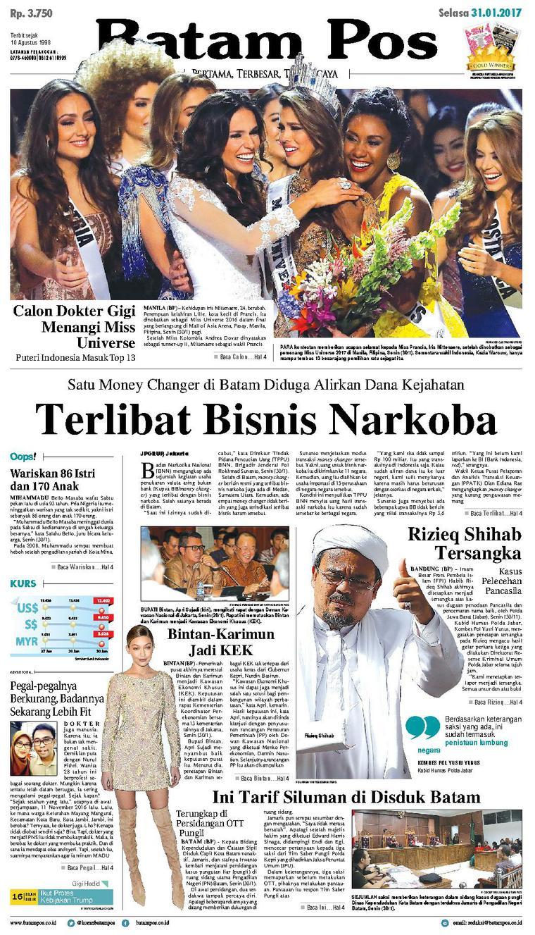 Koran Digital Batam Pos 31 Januari 2017