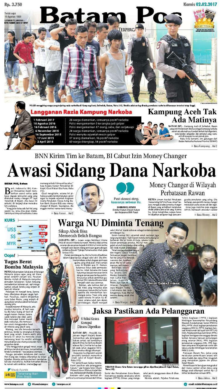 Koran Digital Batam Pos 02 Februari 2017