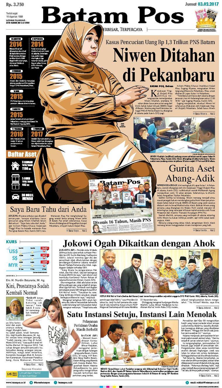 Koran Digital Batam Pos 03 Februari 2017