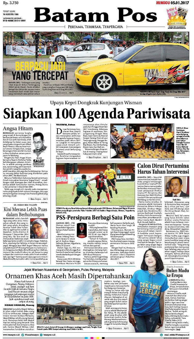 Koran Digital Batam Pos 05 Februari 2017
