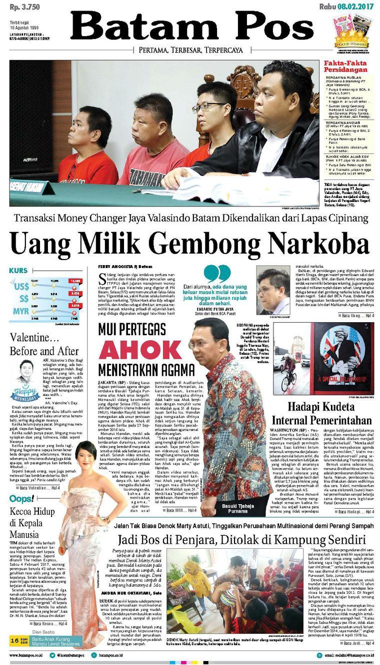 Koran Digital Batam Pos 08 Februari 2017