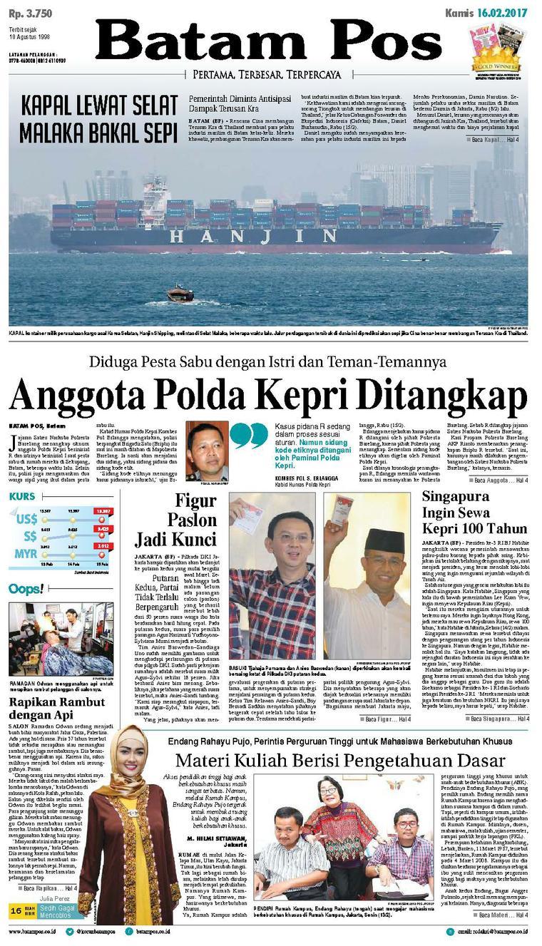 Koran Digital Batam Pos 16 Februari 2017