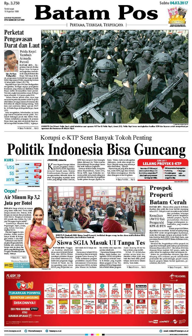 Koran Digital Batam Pos 04 Maret 2017