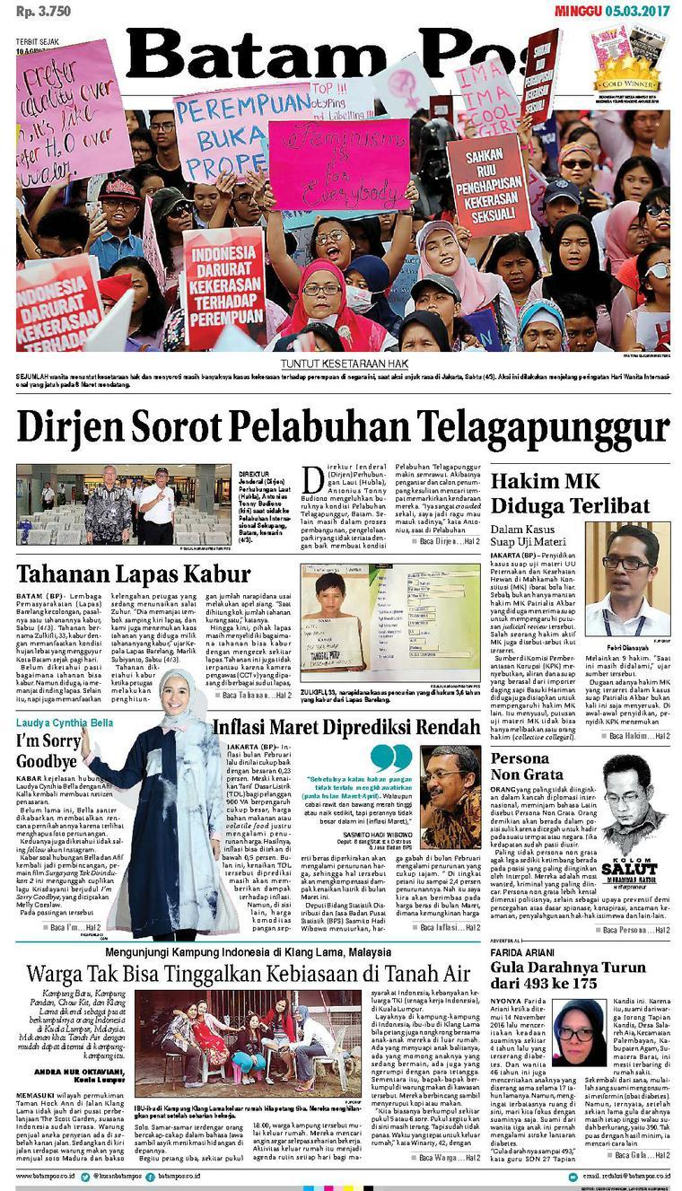 Koran Digital Batam Pos 05 Maret 2017