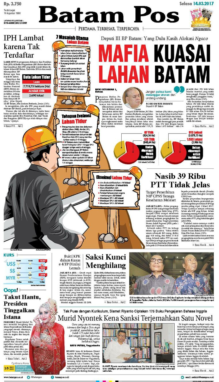 Batam Pos Digital Newspaper 14 March 2017