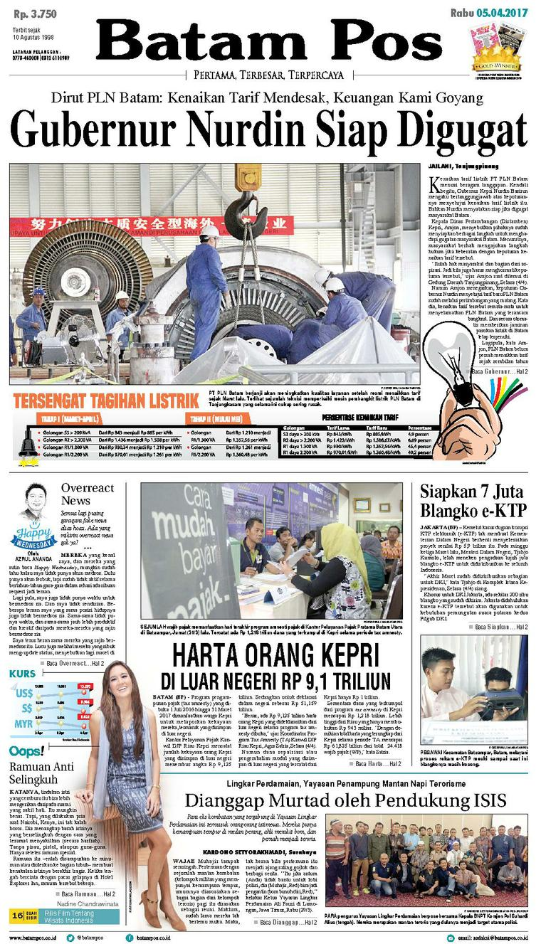 Koran Digital Batam Pos 05 April 2017