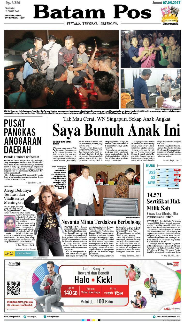 Koran Digital Batam Pos 07 April 2017