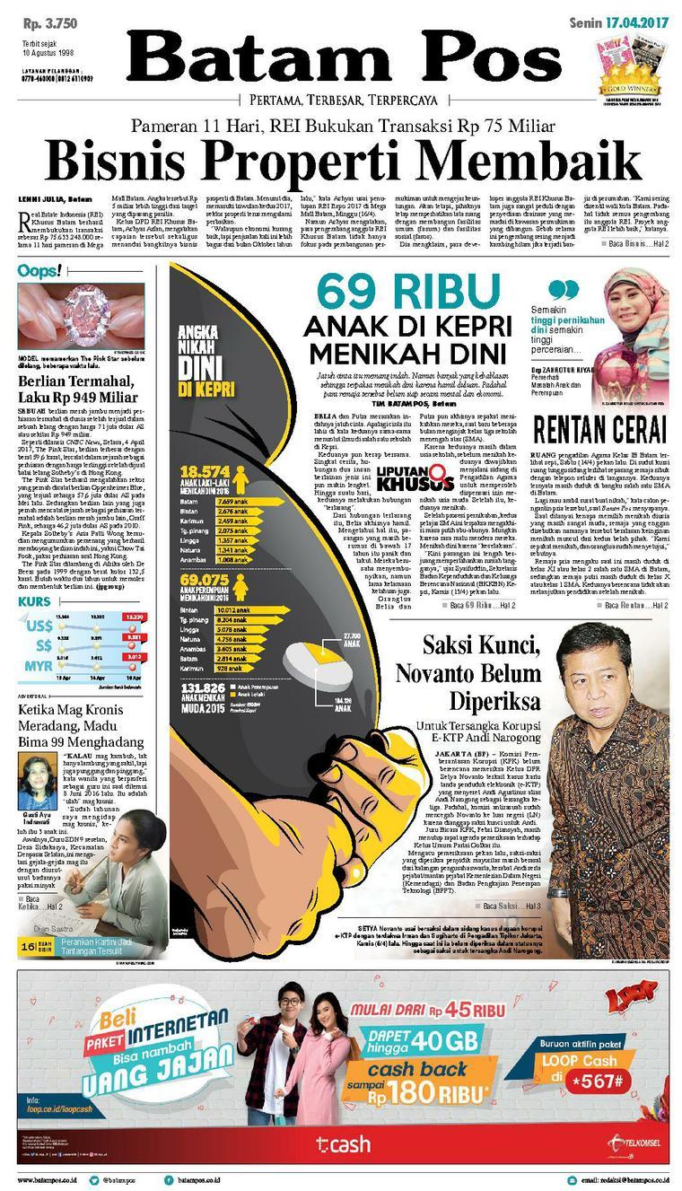 Koran Digital Batam Pos 17 April 2017