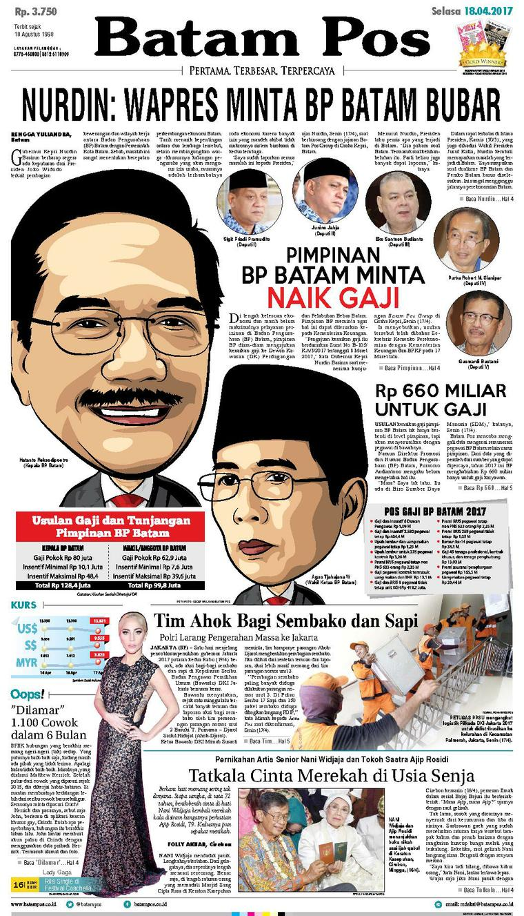 Koran Digital Batam Pos 18 April 2017