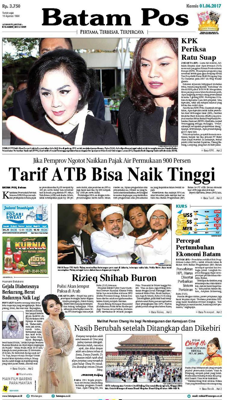 Koran Digital Batam Pos 01 Juni 2017