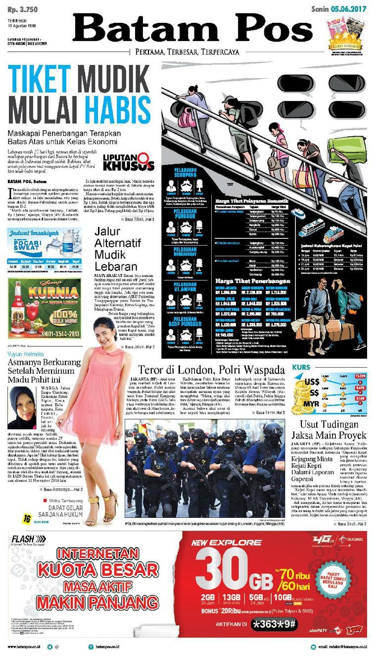 Koran Digital Batam Pos 05 Juni 2017