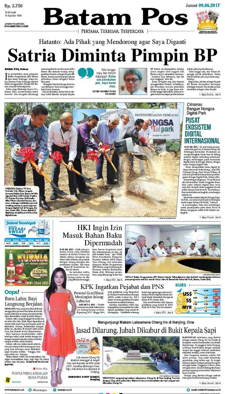 Koran Digital Batam Pos 09 Juni 2017